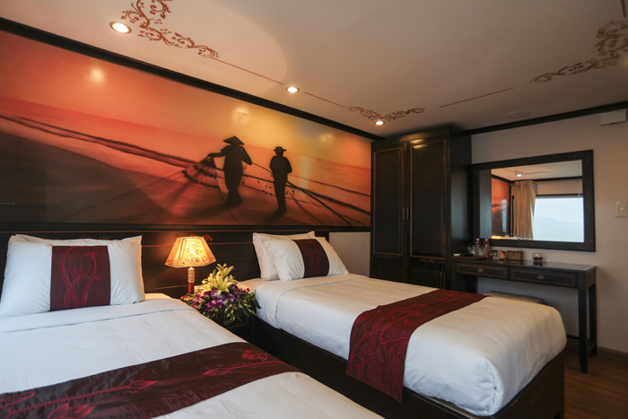 halong huong hai sealife cruise - twin room