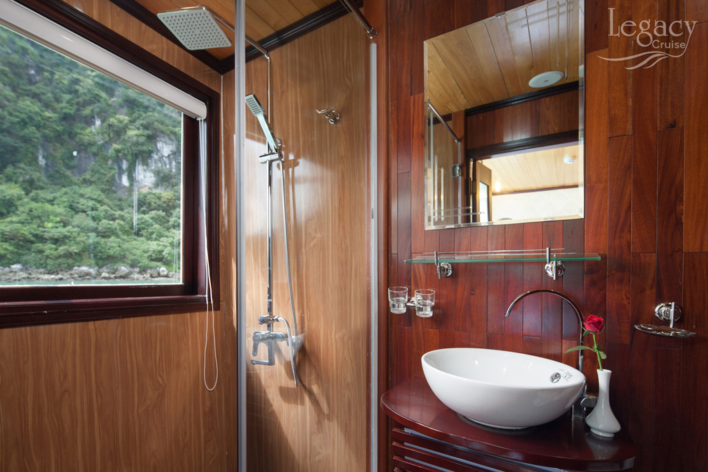 Bathroom on Legacy Legend cruise