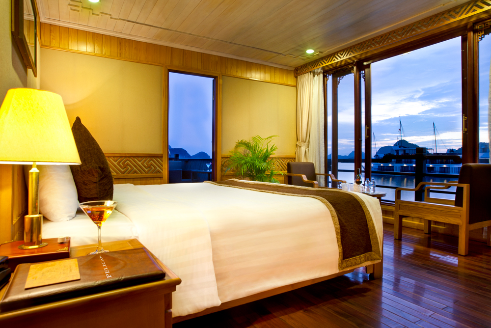 halong pelican cruise - bed room.jpg