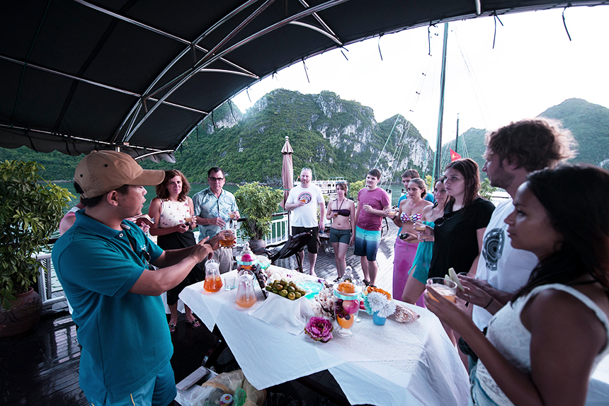 Halong swan cruise-sunset party.jpg
