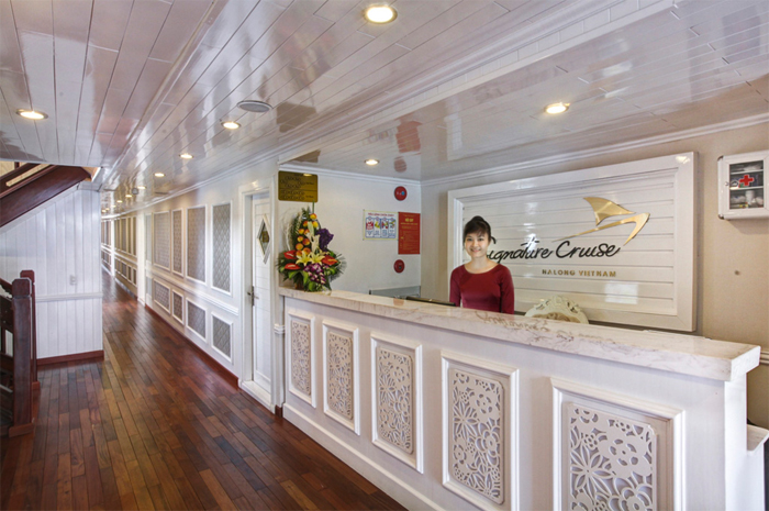 reception area on Halong Signature cruise
