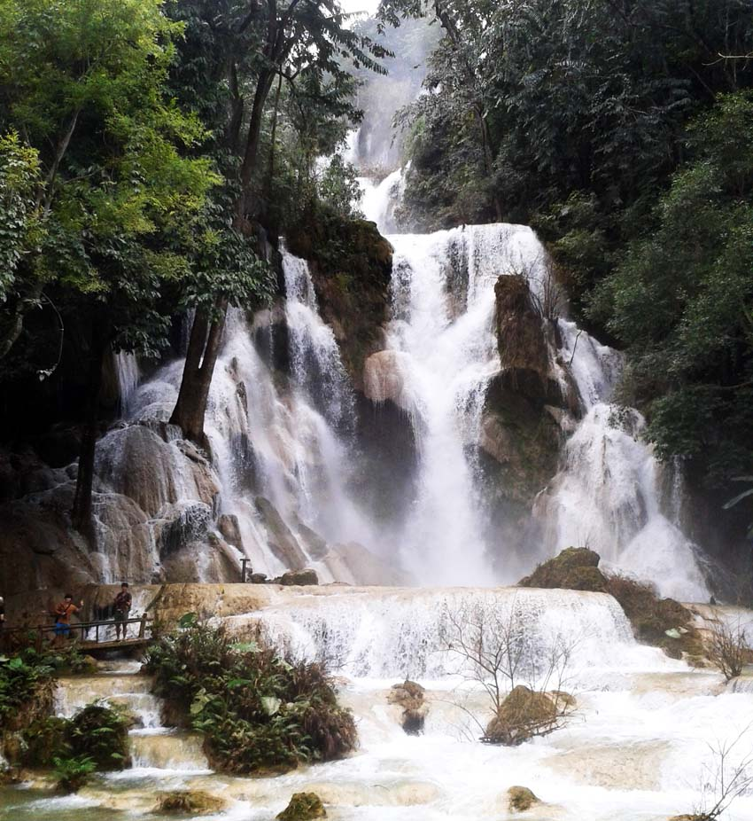 Waterfall in Luang Prabang Laos