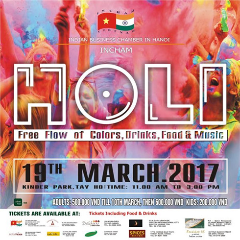 Indian festival of colours organised in Ha Noi